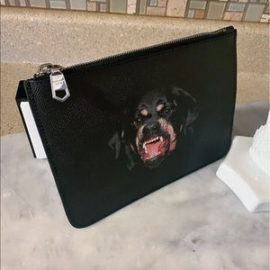 Auth Givenchy Limited Ed. Rottweiler Pouch /Clutch